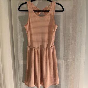 Ardene Light Pink Bow Back Midi Dress - Size XL
